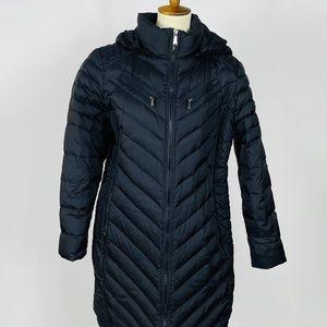 Michael Kors Hooded Long Black Jacket Winter Coat